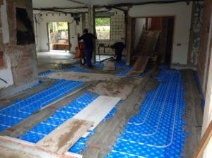 new underfloor heating
