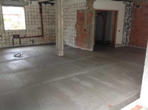 new cocnrete floor