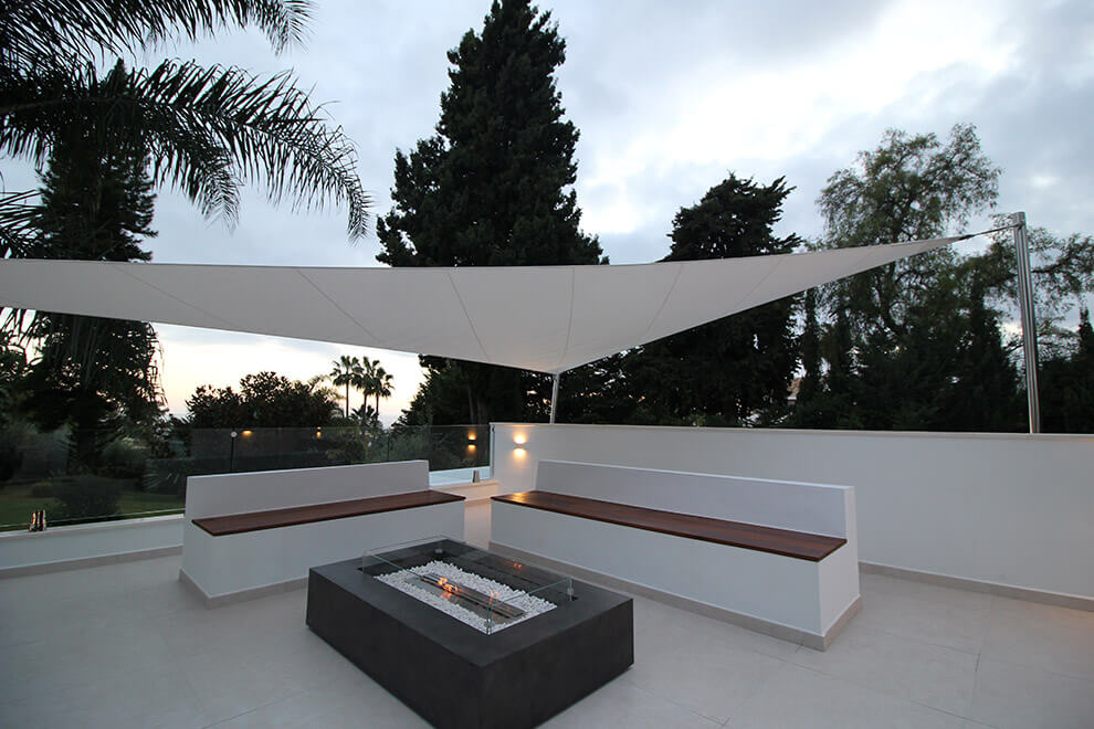 fire pit awning