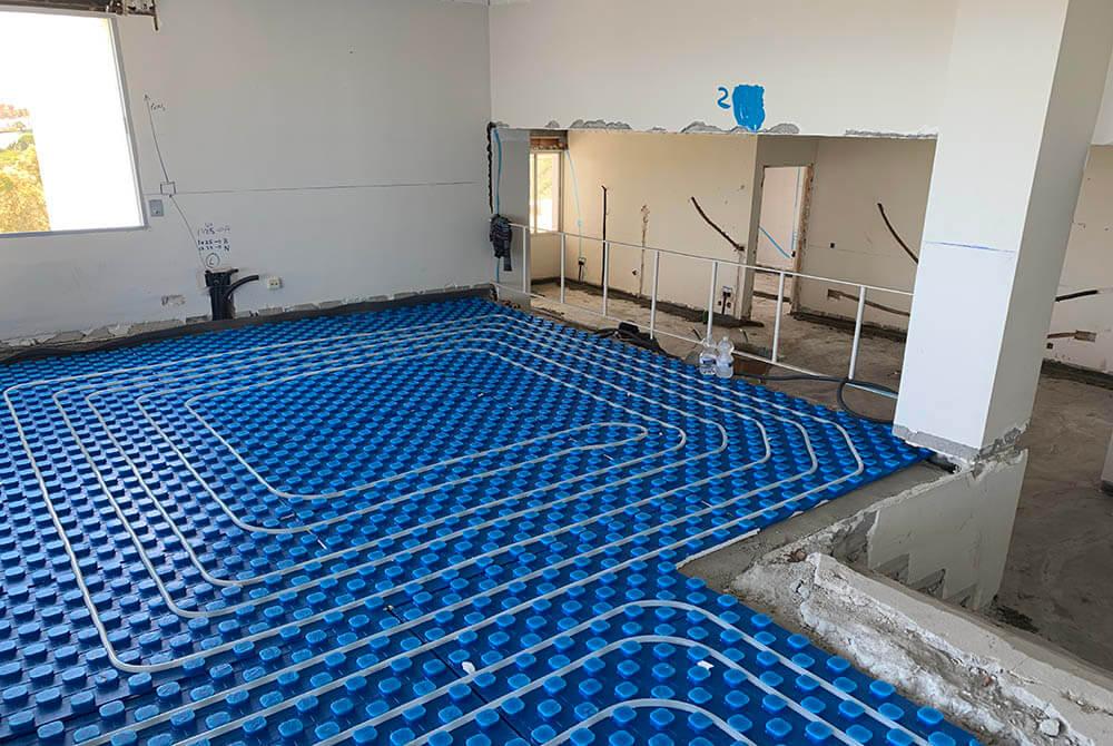 underfloor heating different height floor