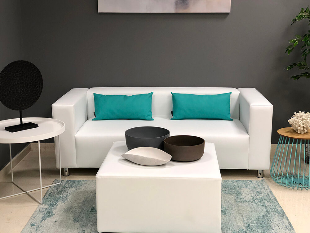 Showroom Furniture White Sofa