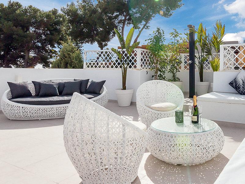 outdoor shower white luxury spanish rooftop