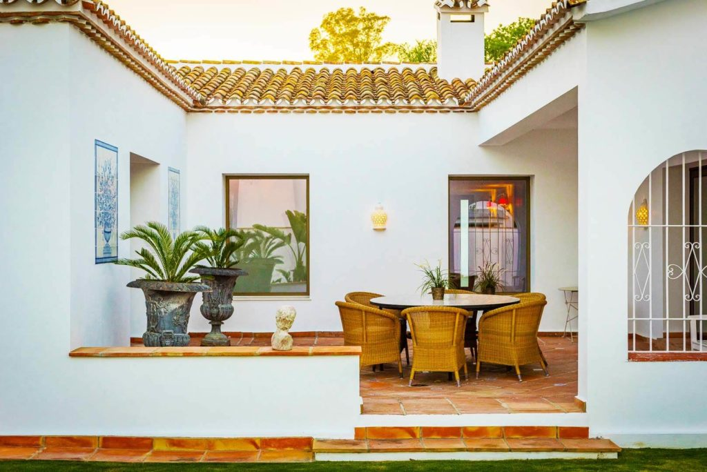 classic spanish andalucian chill out porch
