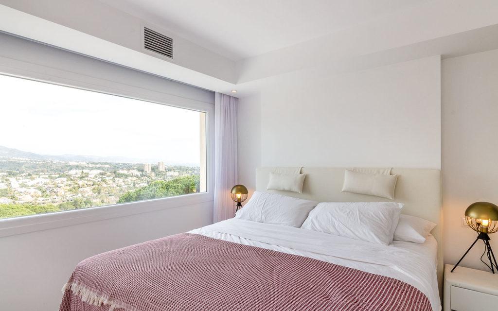 Stylish simple bedroom in Marbella, Costa del Sol
