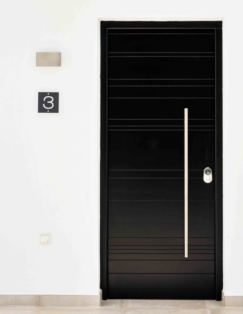 Classic modern front door and porch
