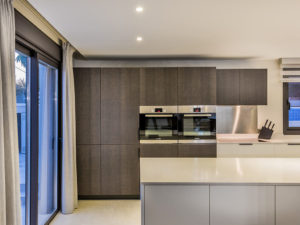 Modern kitchen with built in double ovens in Costa del Sol