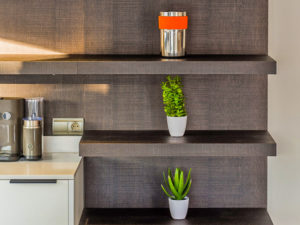 Stylish kitchen shelves in the Costa del Sol