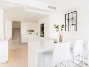 Beautiful white kitchen in Marbella