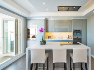 modern light grey kitchen on Costa del Sol