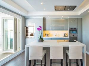 modern light grey kitchen on Costa del Sol
