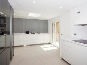 Minimalist White Spacious Kitchen