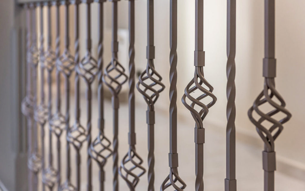 Stylish wrought iron stair railings in Costa del Sol