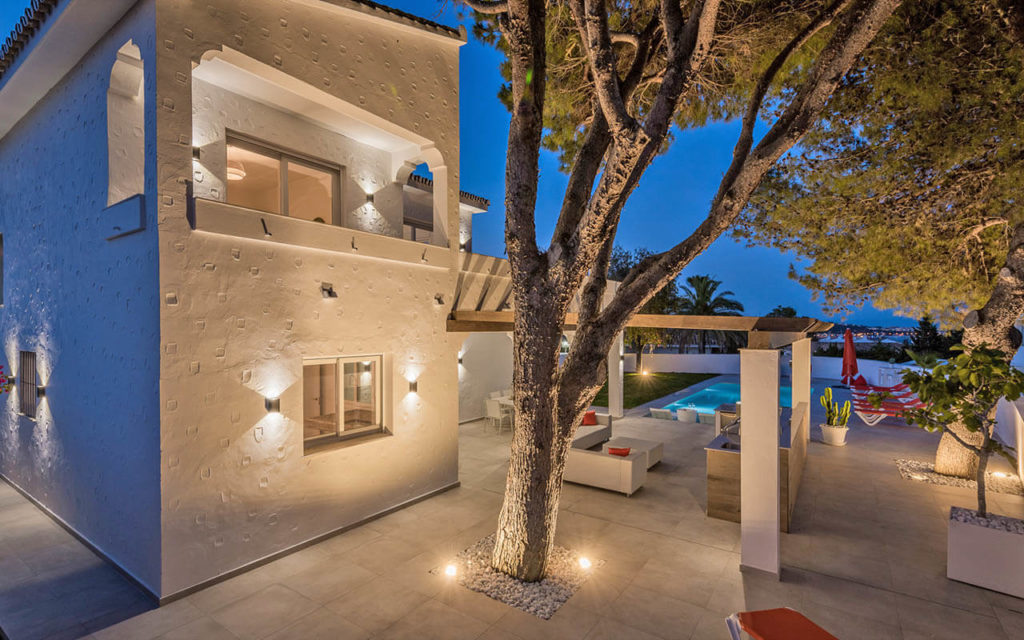 Unique Spanish villa with detailed render in Mijas Costa