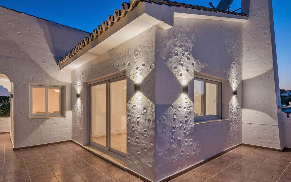 Unique building render detail in Mijas, Costa del Sol