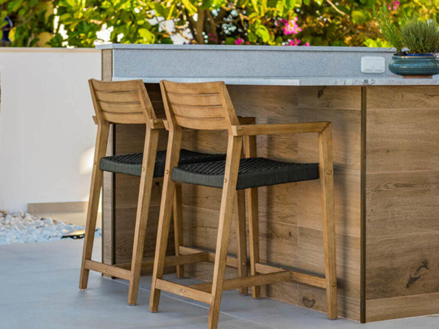 Outdoor kitchen bar by designed and built by ProMas in Mijas