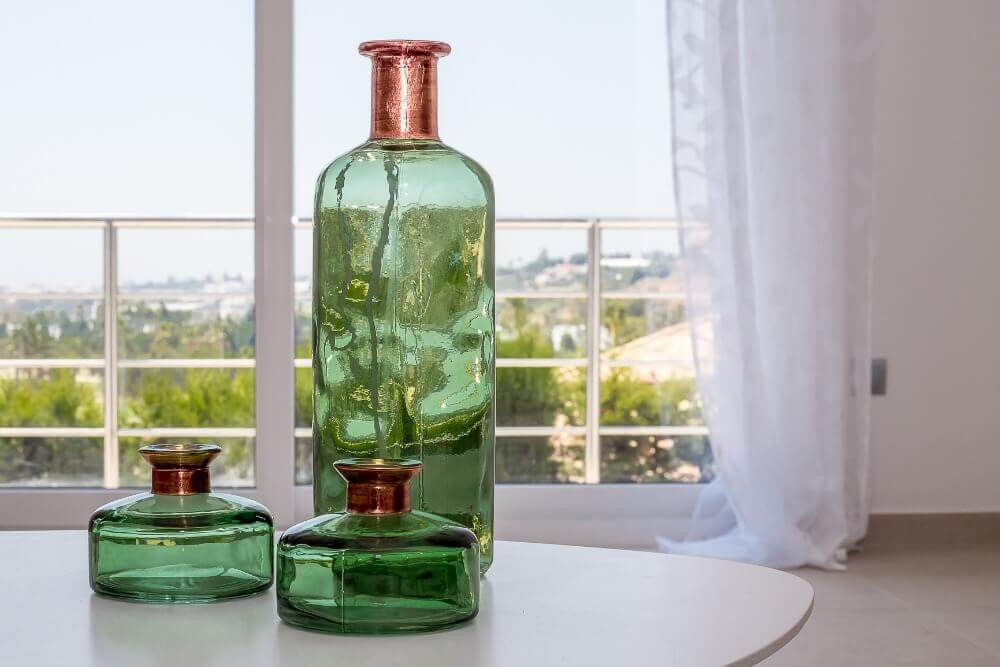 Green bottle interior design details by ProMas in Marbella