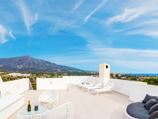 Stylish rooftop outdoor living design and refurbished by ProMas in Marbella