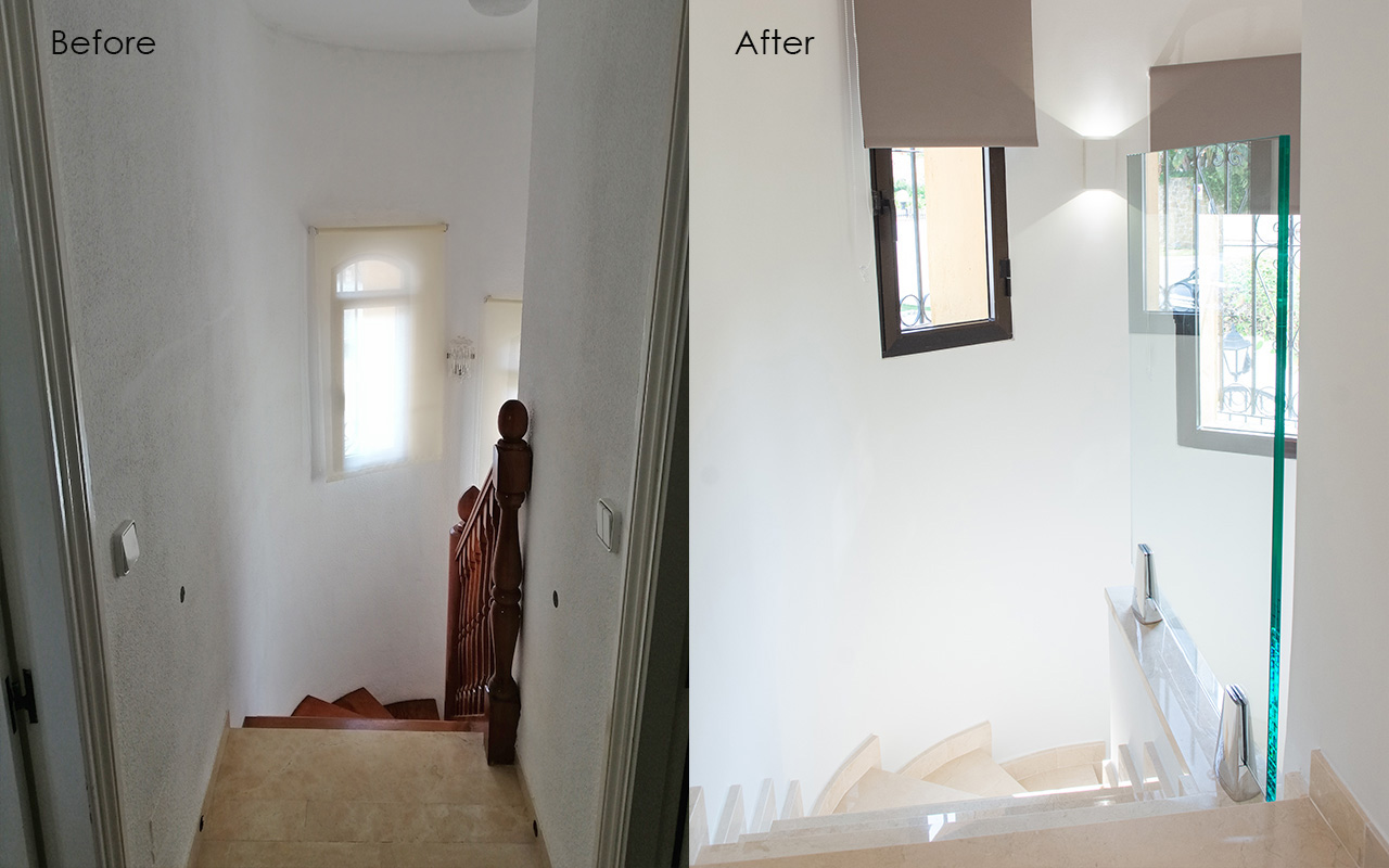 Before and After - Going Downstairs