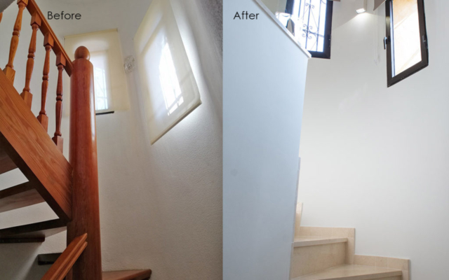 Before and After - Going Upstairs