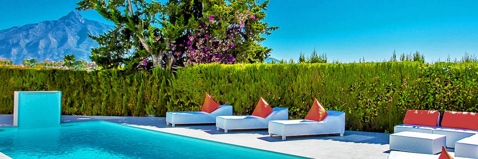 Stylish Puerto Banus pool with views in Marbella