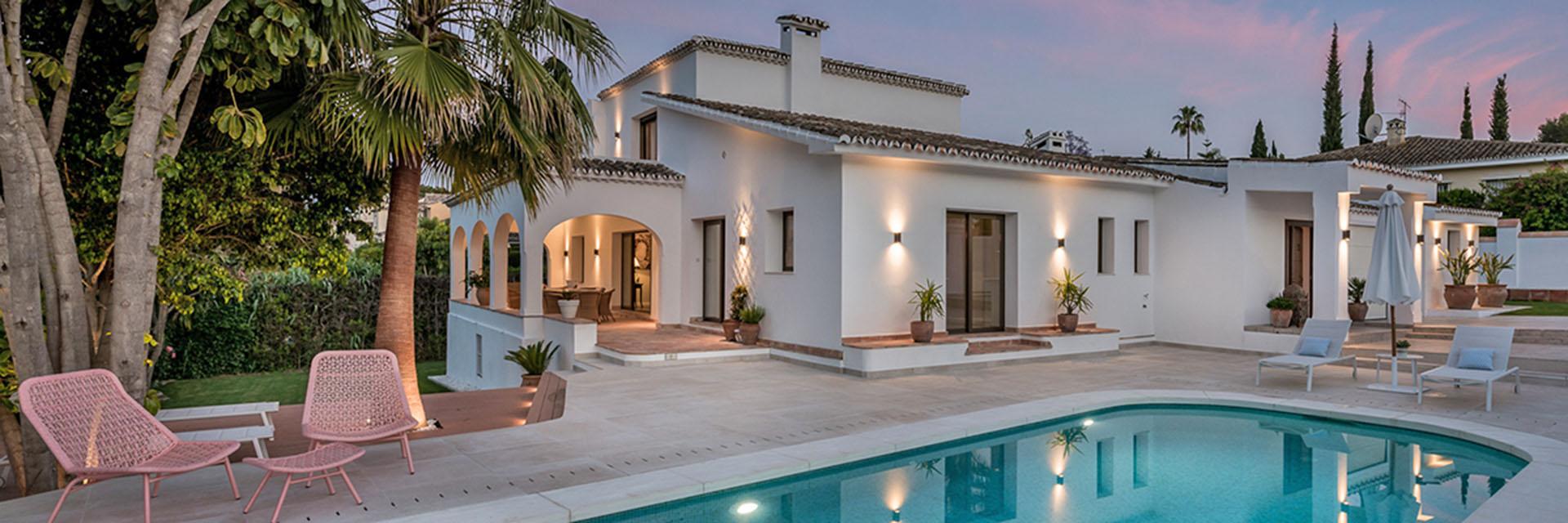 Renovated traditional Spanish villa by ProMas Building in Guadalmina, Marbella