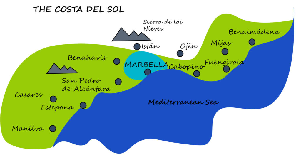Costa del Sol map by ProMas Building