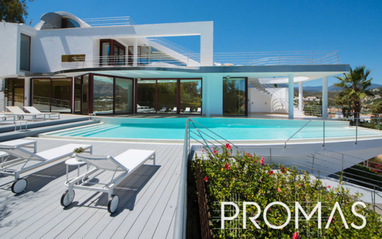 Modern remodel and infinity pool by ProMas in Nueva Andalucia, Costa del Sol
