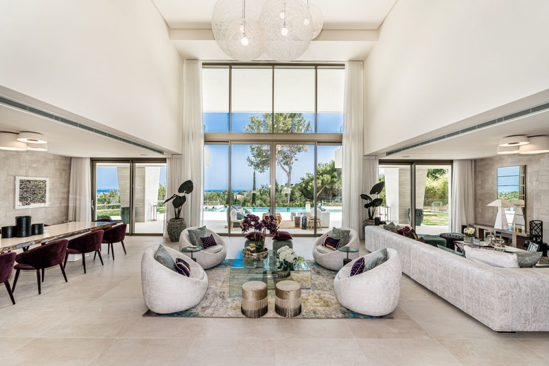 Interior of a villa currently for sale in Sierra Blanca