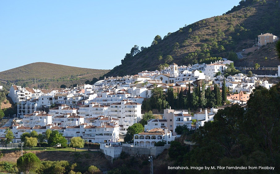 The gorgeous village of Benahavís in the Costa del Sol