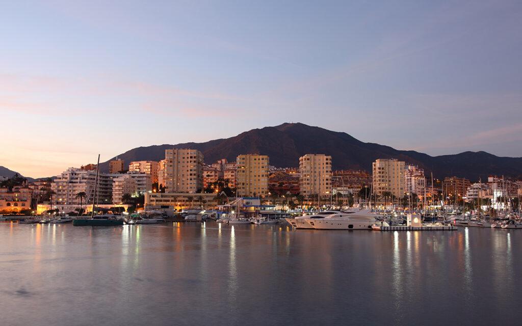 Estepona Port from the sea