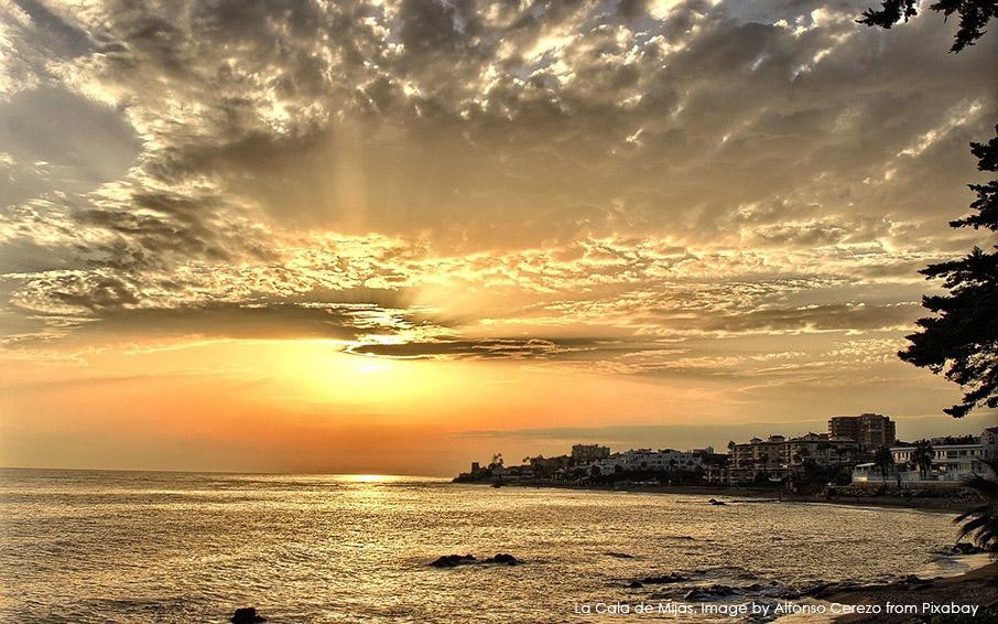 La Cala de Mijas at sunset