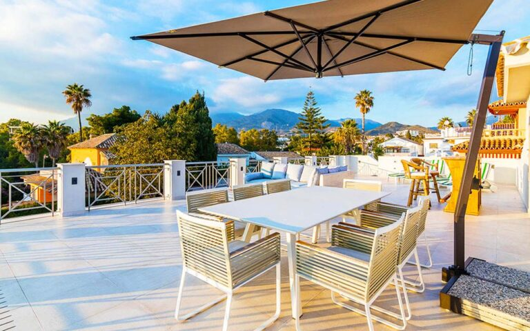 Reformed roof terrace in Marbella