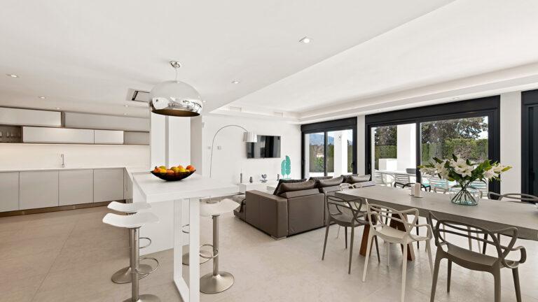 Stylish open plan living area in Puerto Banus